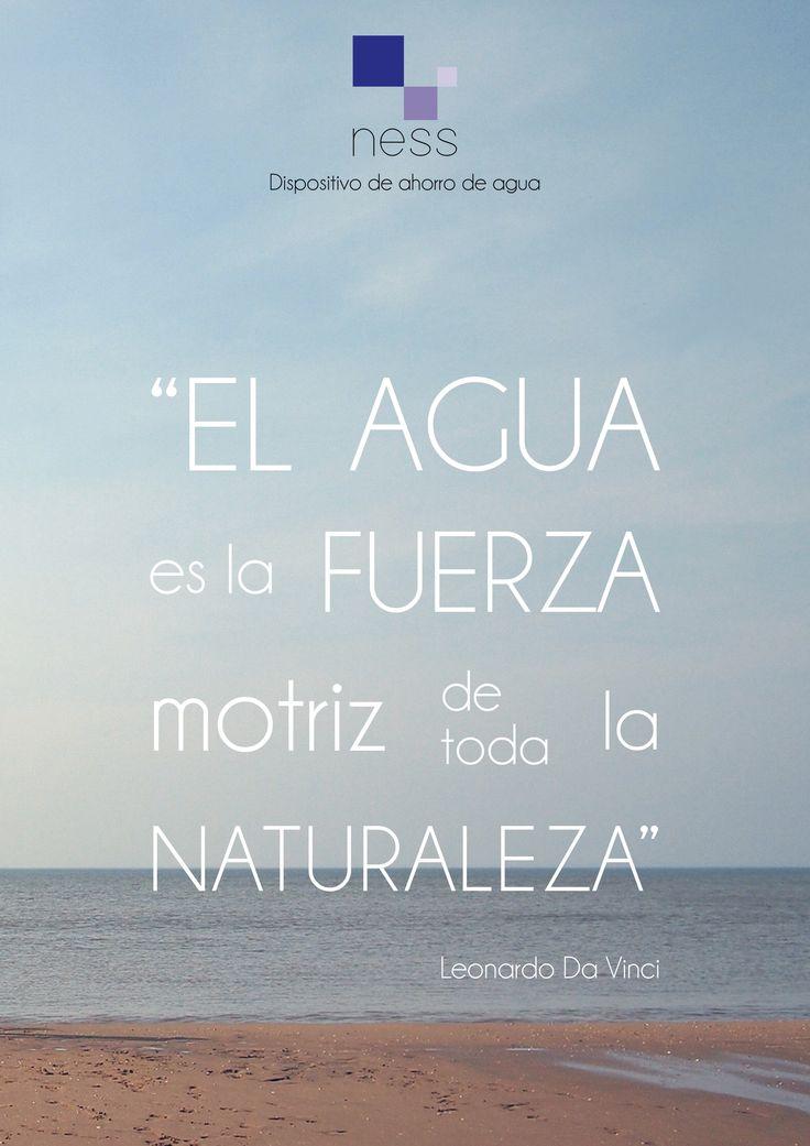 """""""El agua es la fuerza motriz de toda la naturaleza""""  Leonardo Da Vinci    #frases #citas #phrases #diseño #leonardodavinci #agua #naturaleza #design"""