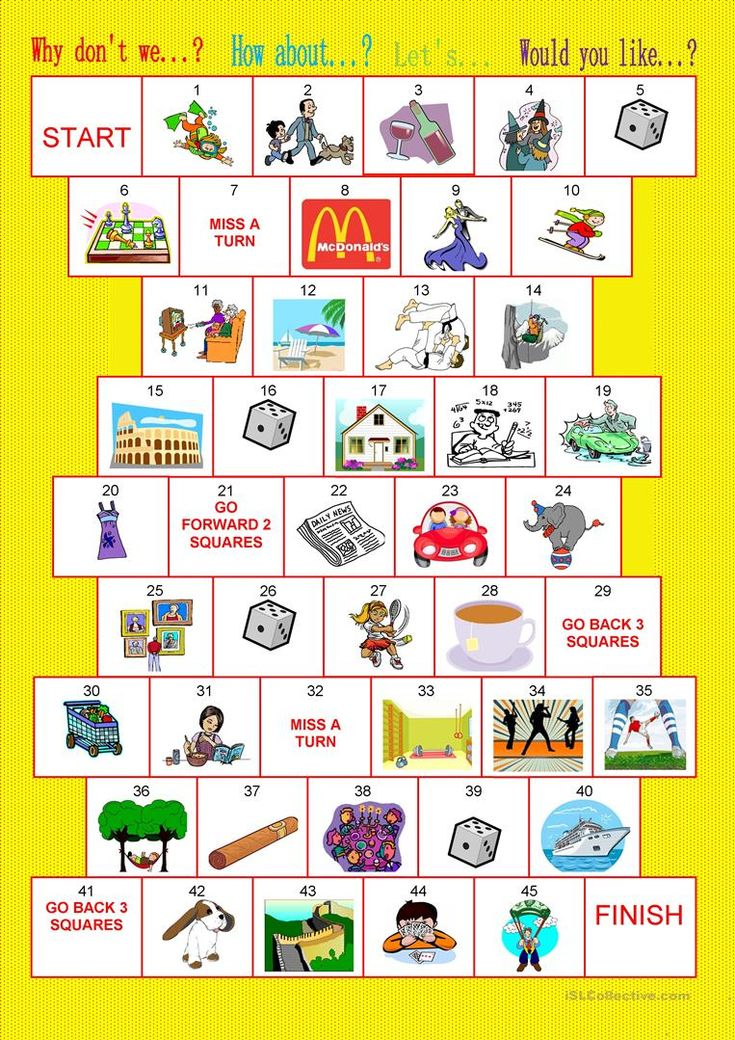 Board game making suggestions English ESL Worksheets