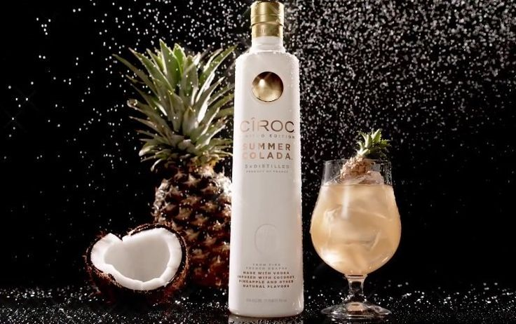 """Drink recipes for two, Ciroc Summer Colada cocktails, the """"Lime Love"""" and the spring/summer party-worthy """"Epic Summer Punch."""""""