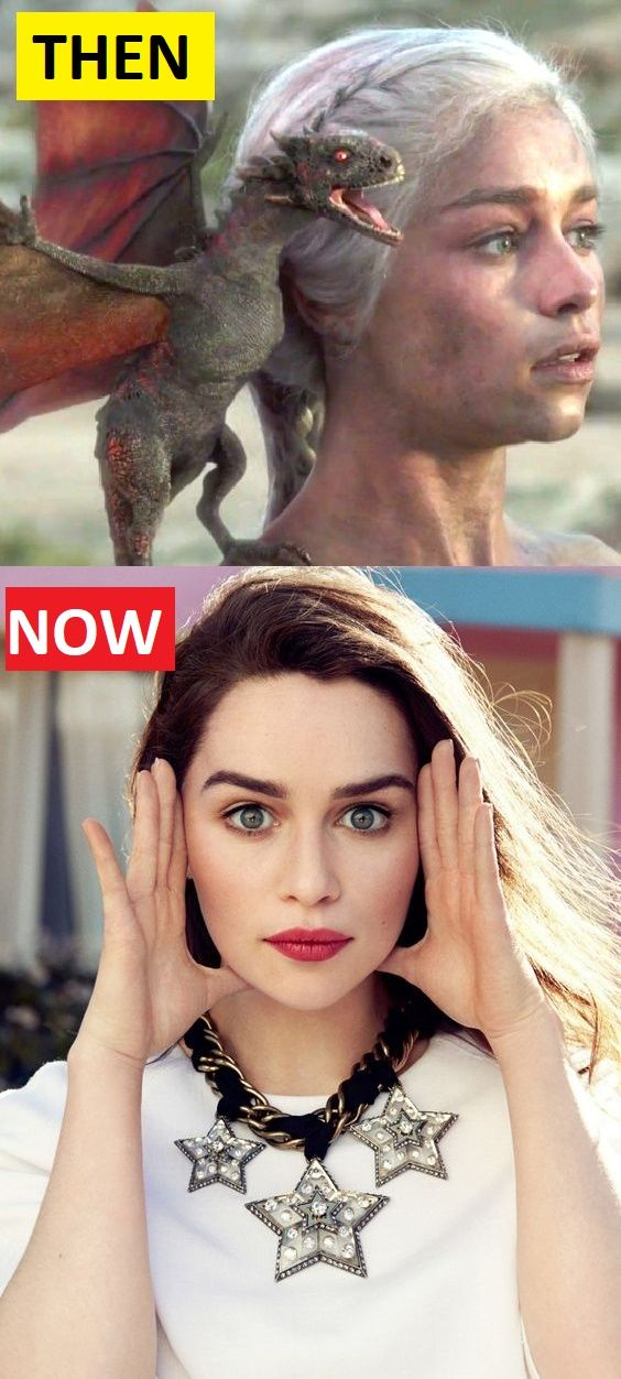 Emilia Clarke Daenerys Targaryen Game Of Thrones Then And Now Check