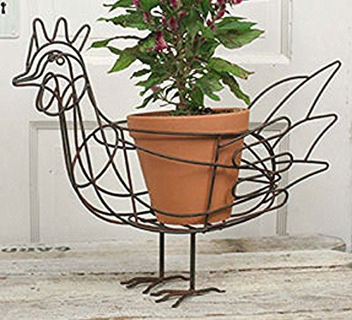 Rooster Flower Pot Planter