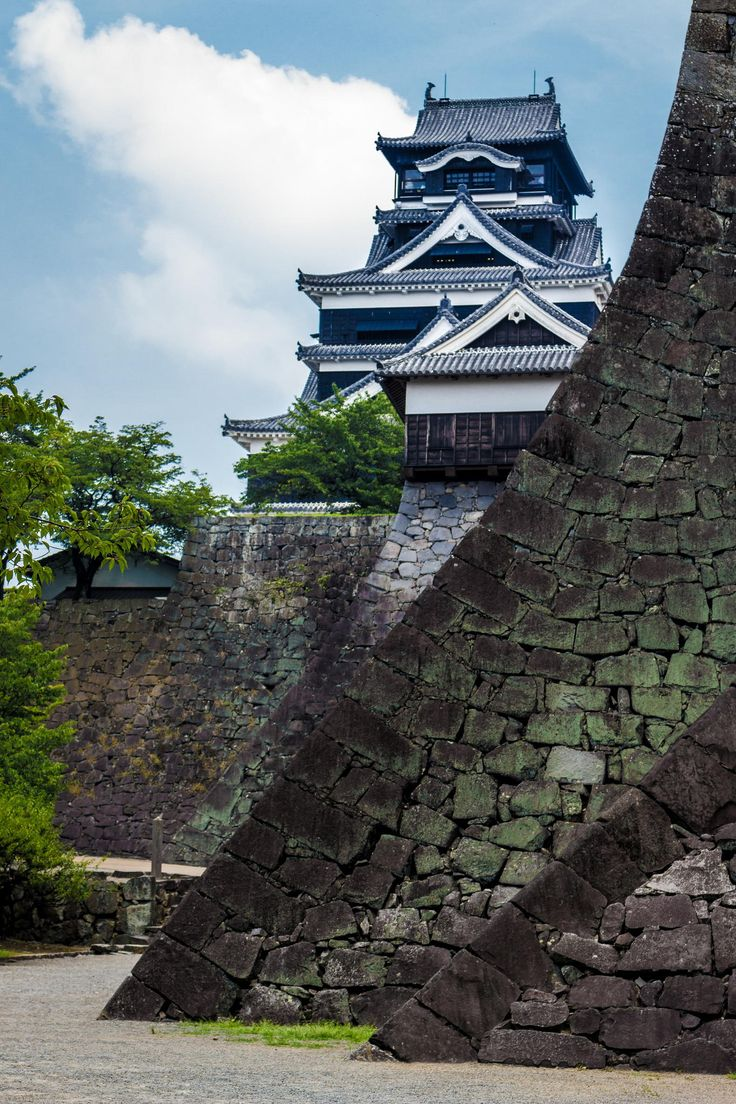Kumamoto Castle。熊本城。