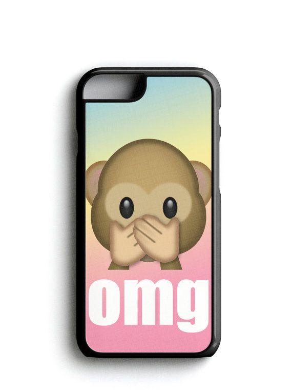 OMG Cute Monkey Emoji Phone Case iPhone Samsung FREE iPhone Tempered Glass Screen Protector*