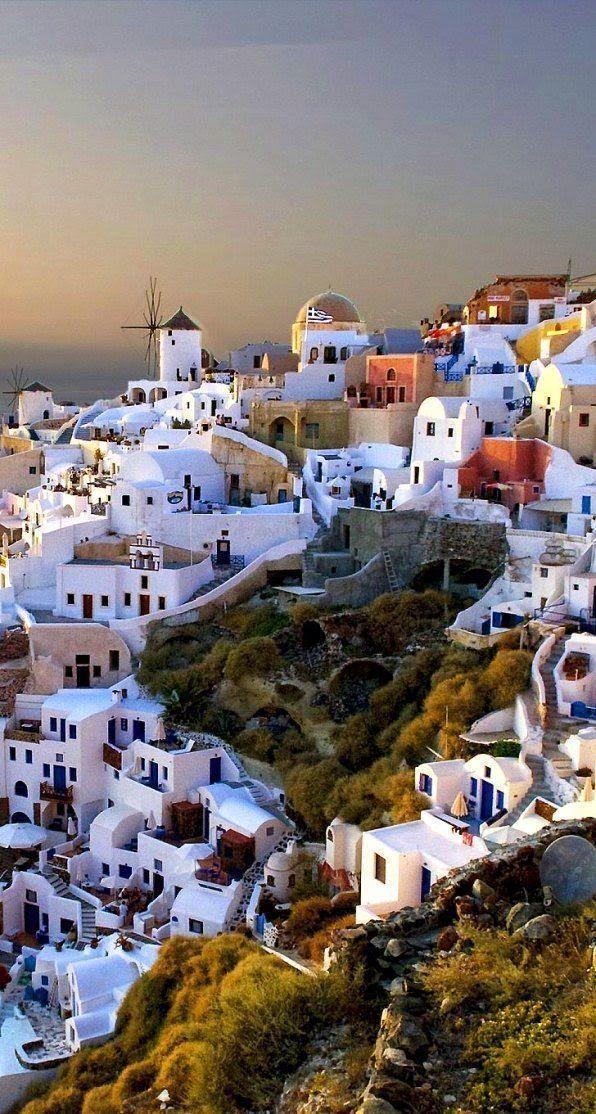 Romantic travel destinations - Oia, Santorini Island, Greece www.cruiseshipcenters.com/LissetteAbreu