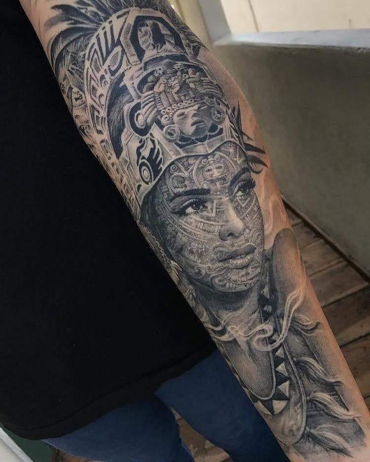 Aztec Tattoo Mexican Forearm In 2020 Aztec Tattoo Aztec Tattoos Aztec Tattoo Designs