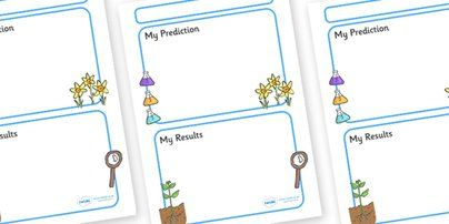 Preview: Science Experiment Recording Sheet - EY & KS1