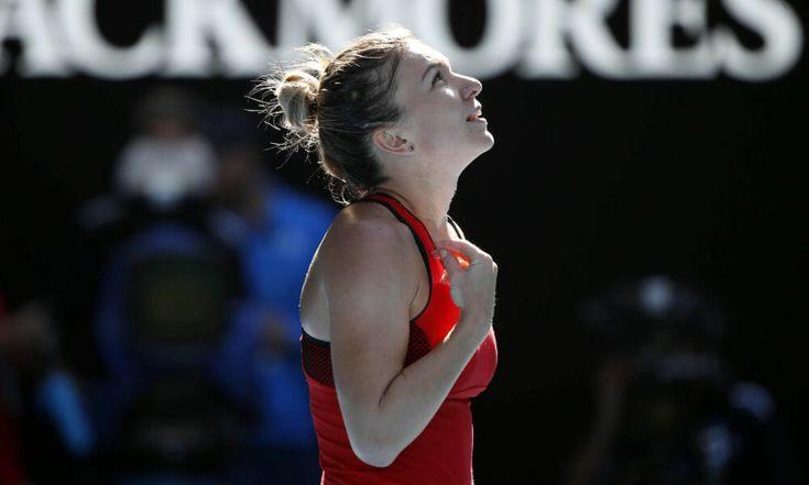 Halep survives epic with Kerber to meet Wozniacki in Aussie final