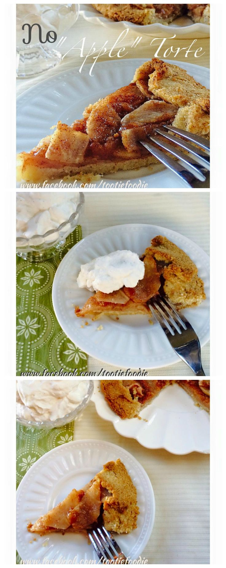 Low carb and gluten free mock apple torte. Super delicious. Made with jicama! Keto LCHF Banting Sugar Free Pie Recipe.