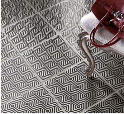 Anyone Cross-eyed yet? Really retro pattern tiles which have commercial slip resistant values.