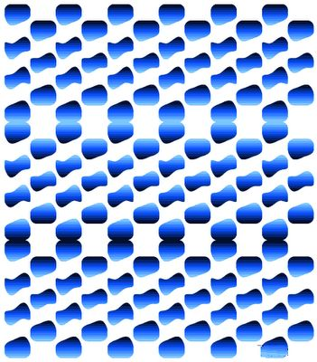Blue Blobs Moving Optical Illusions