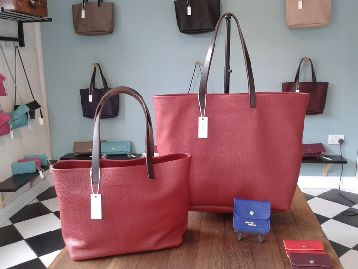 A new rich plum colour for our totes! Alabama Worley Runaway Bag and Baby Alabama Worley tote.