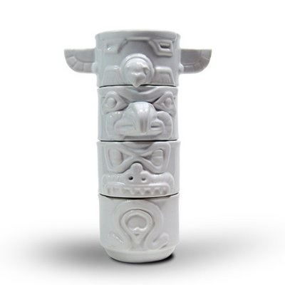 stacking totem cups by Rob Southcott, a designer based out of Toronto, Made in Canada