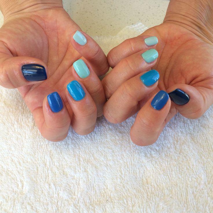 #Uñas #degrade #colore #azul