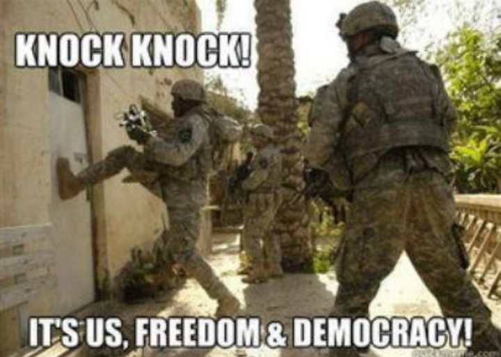 Knock Knock it's us freedom & democracy | Anonymous ART of Revolution