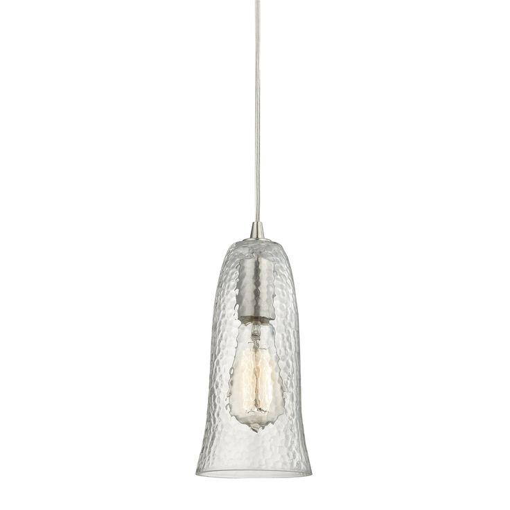 Elk Lighting 10431/1 Hammered Glass 1 Light Pendant