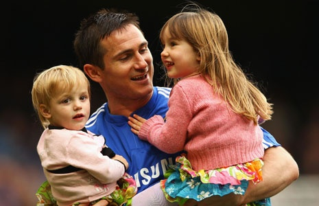 Frank Lampard and his daughters Luna and Isla