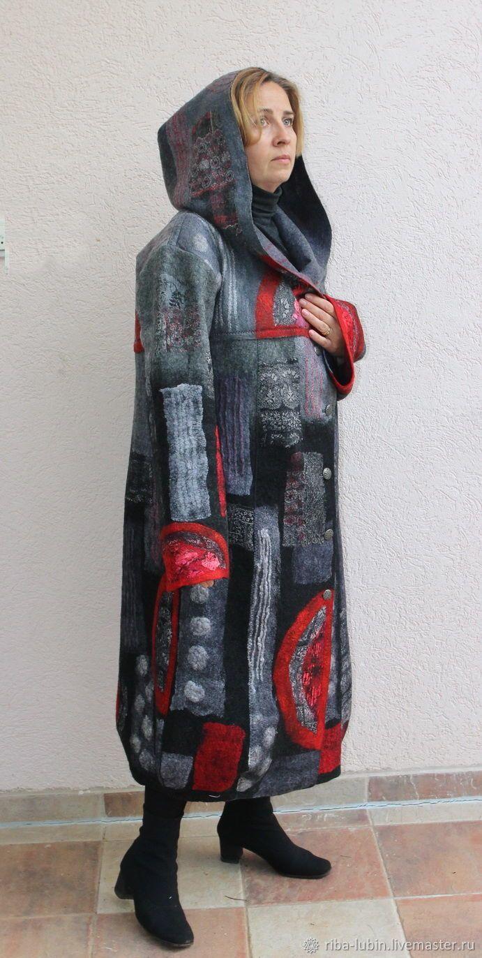 """Пальто валяное """"Чужестранка"""" – купить или заказать в интернет-магазине на Ярмарке Мастеров   Валяное пальто оверсайз на теплую весну,…"""
