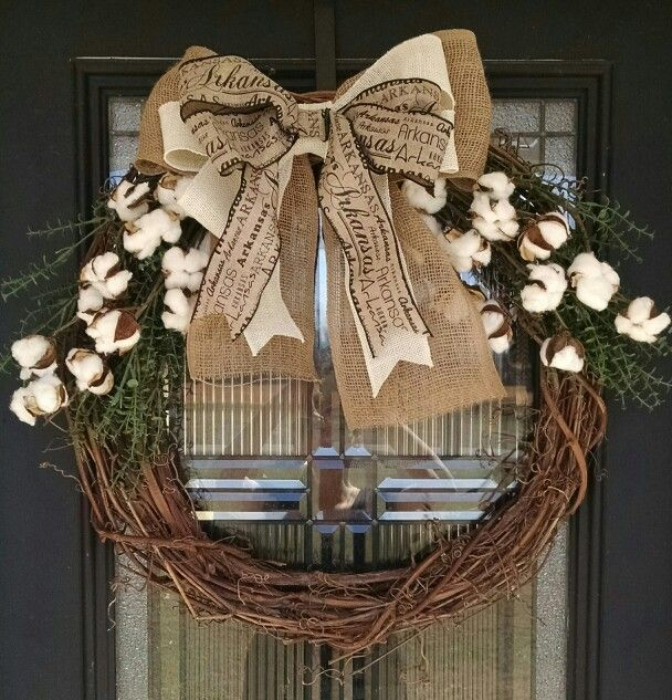 Large Arkansas cotton wreath