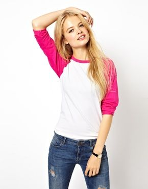 ASOS Colour Block Baseball Top