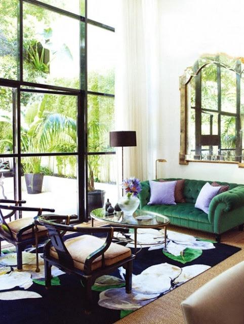 velvet sofa. sadie + stella: Monday Musings: A little velvet never hurt nobody