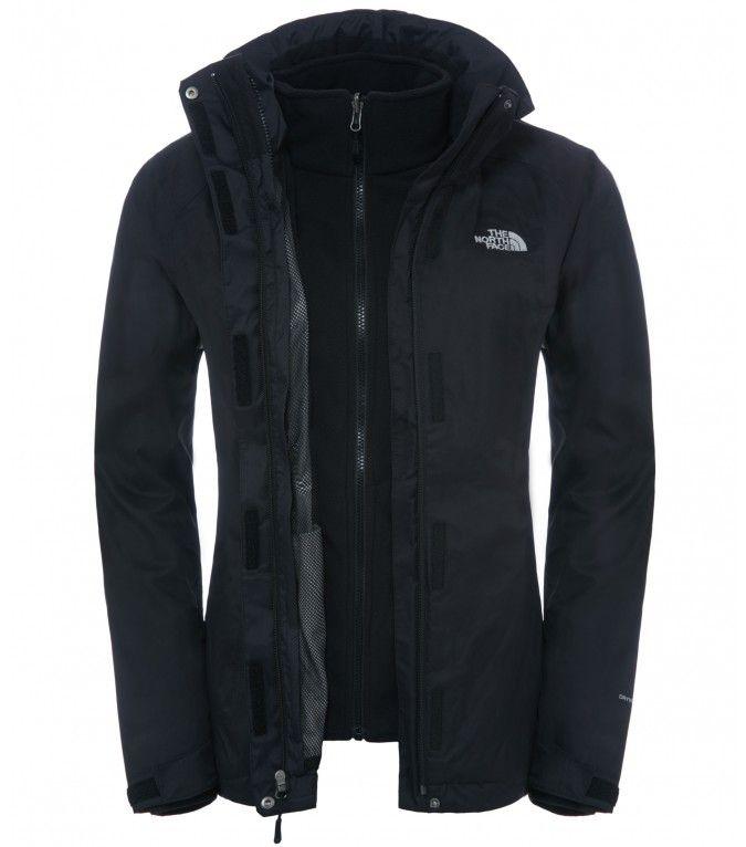 Die sportliche, technisch ausgestattete The North Face® Damen Evolve II Triclimate Jacke kombiniert eine wasserdichte DryVent® Shell mit einer herausnehmbaren Innenjacke aus weichem Fleece.
