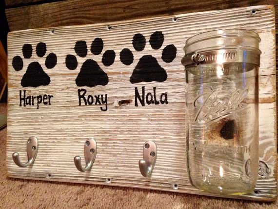Made from reclaimed barn wood, these puppies are shabby chic and perfect for right inside the door after a walk! Each piece of barnwood has its own