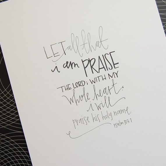 handwritten art original  Psalm 1031 by TruthinWrit on Etsy, $25.00