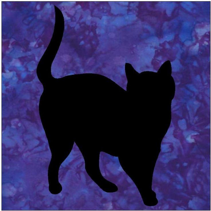 Best 12 cat silhouettes images on Pinterest | Schwarze katzen ...