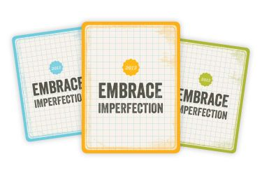 free Embrace Imperfection filler card for project life