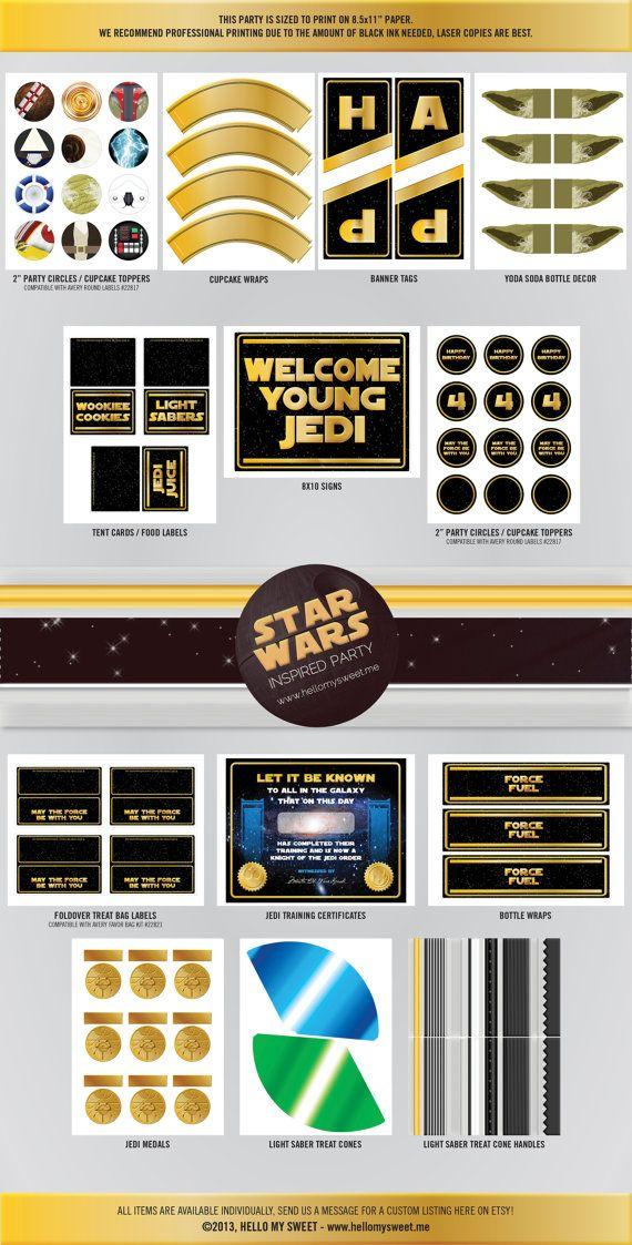 Star Wars Party Printables Birthday @Hello My Sweet www.hellomysweet.me http://hellomysweet.etsy.com