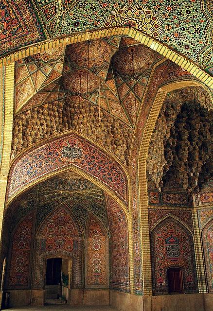 North Iwan of the Nasir al-Molk Mosque   Shiraz, Iran