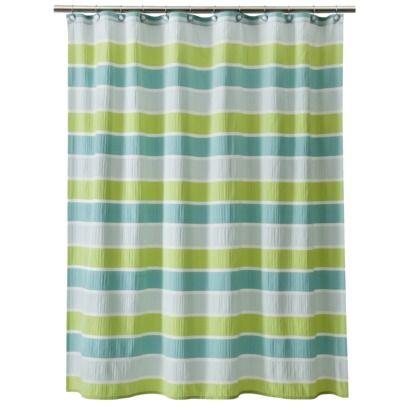 Threshold Seersucker Shower Curtain - Green