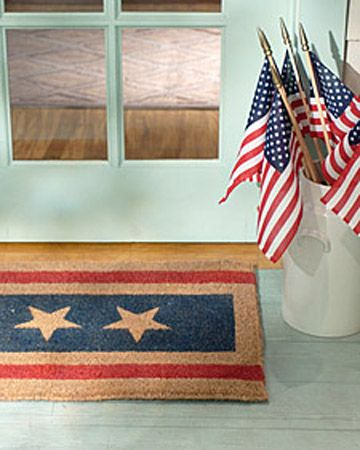 Patriotic Doormat: Fun Recipes, Easytomak Addition, Easy To Mak Addition, By Mats, Front Doors, 4Th Of July, Front Porches, Dr. Suess, Sue Proof