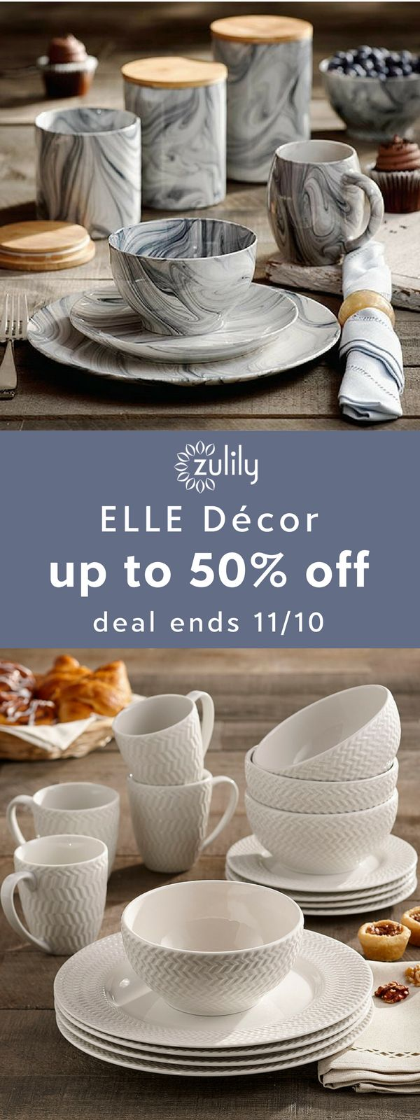 Sign up to shop 16-piece dinner sets, up to 50% off. For nearly 30 years, ELLE has been a recognized name in the fashion industry. Their home décor and kitchen line stays true to the brand's Parisian roots while introducing more modern elements for a trend-forward feel. Deal ends 11/10.