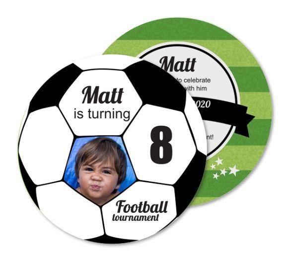 Birthday Party Invitation Football Tournament