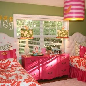 Might need to get twin beds & put dresser between for the girls