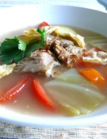 Indonesian Food. Sop Kambing. Goat Meat Soup Soupe de chèvre.
