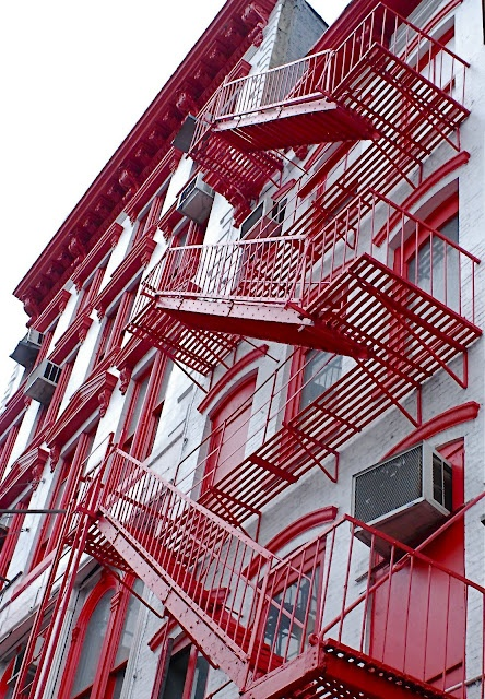 fire escape stairs of canal street