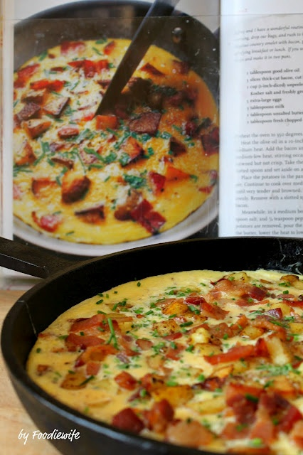 Ina Garten's Country French Omelet --- so yummy & easy to make.  One of my favs.