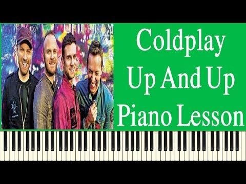 Coldplay Up And Up Easy Piano Lesson - How To Play Coldplay Up And Up On...