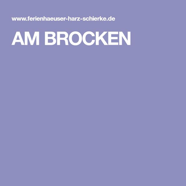 AM BROCKEN Ferienhaus harz, Brocken, Ferienhaus