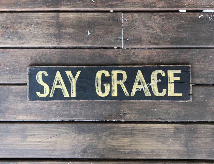 Say grace sign. Farmhouse dining room sign. Rustic reclaimed wood Say Grace. Dining room sign. Kitchen sign.  Black Rustic dining sign by GrayKeyDesigns on Etsy https://www.etsy.com/listing/570007248/say-grace-sign-farmhouse-dining-room