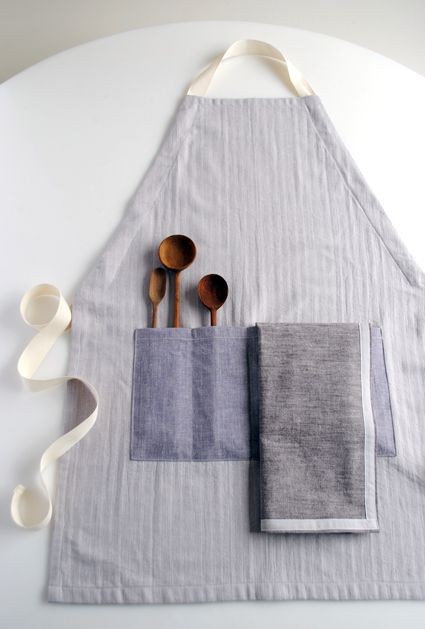 An Apron and Simple Dishtowels