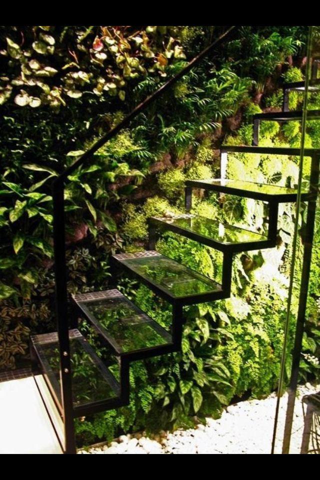 Indoor garden stairs :)