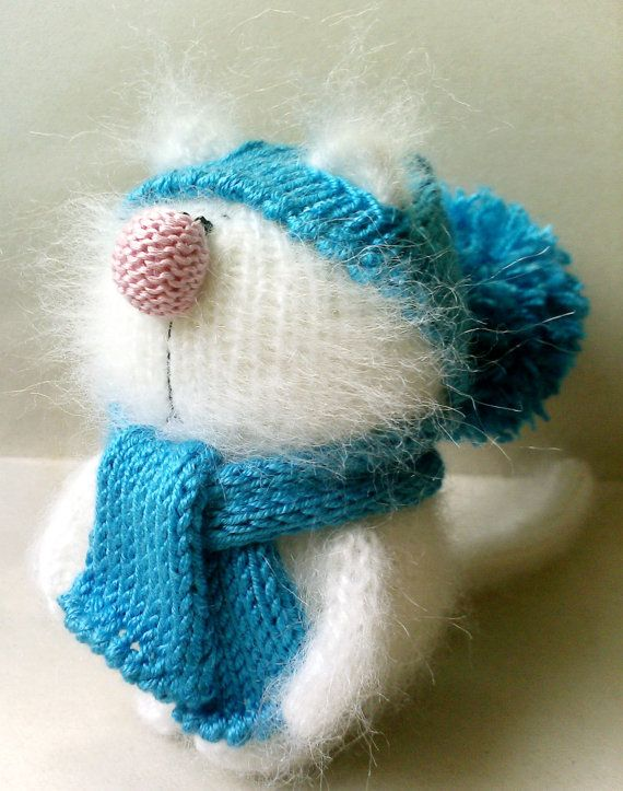White kitty Miniature Amigurumi Pet Animals by MiracleStore