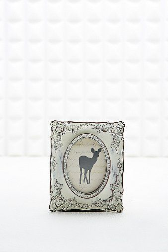 Ornate Antique Frame in White - Urban Outfitters