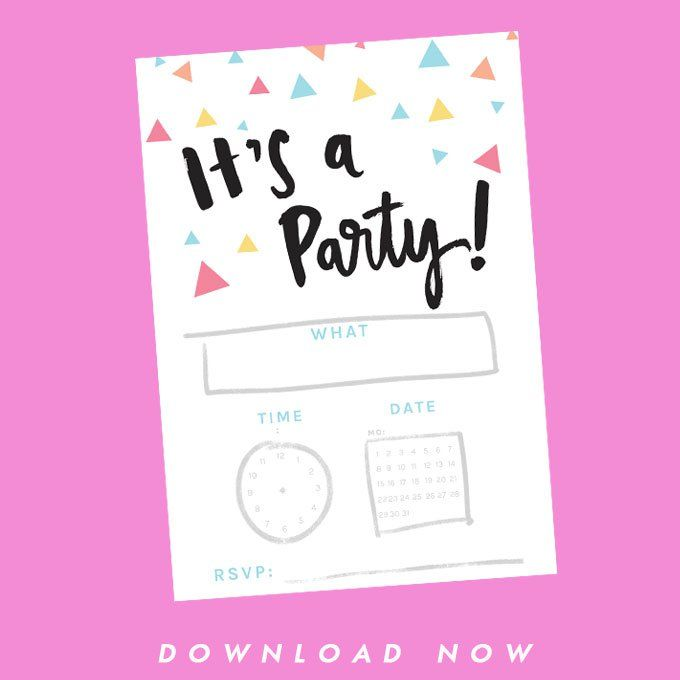 It's a party! {FREE birthday invitation printable}