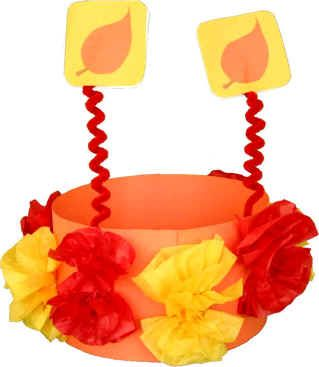 Autumn leaves crown - little kids love crowns