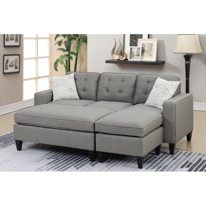 Ellensburg 81 Reversible Sectional With Ottoman Sectional Sofa