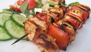 #Brochettes de #poulet à la grecque #recettesduqc #BBQ